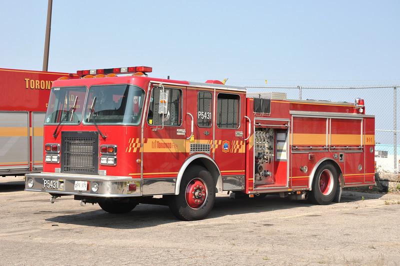 Toronto FD Spare Eng. 5431<br /> 1992 Spartan Gladiator/Superior<br /> 1050/500