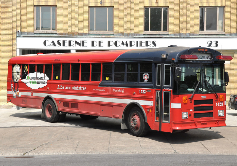 Montreal FD Shelter Bus 1423<br /> 2008 Auotbus Thomas SAF-T-Liner EF
