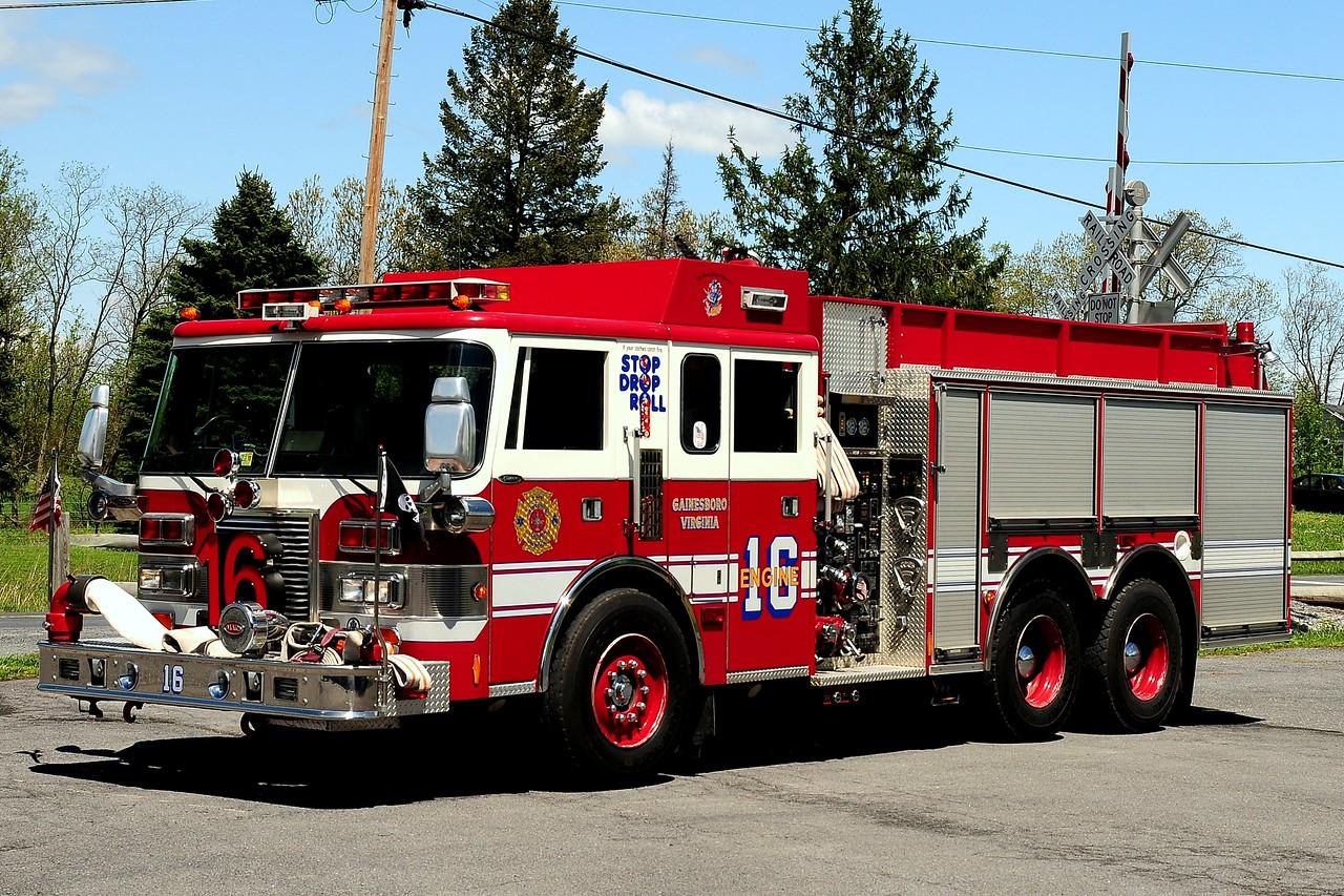 GAINESBORO, VA ENGINE 16  1989 PIERCE LANCE 1250/ 1500