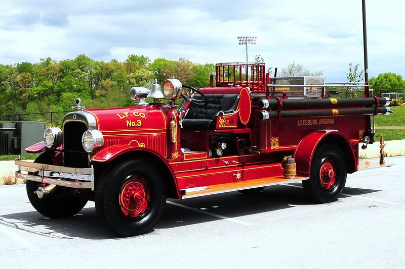 LEESBURG VA, FIRE CO #3  1929 SEAGRAVE  500/ 100