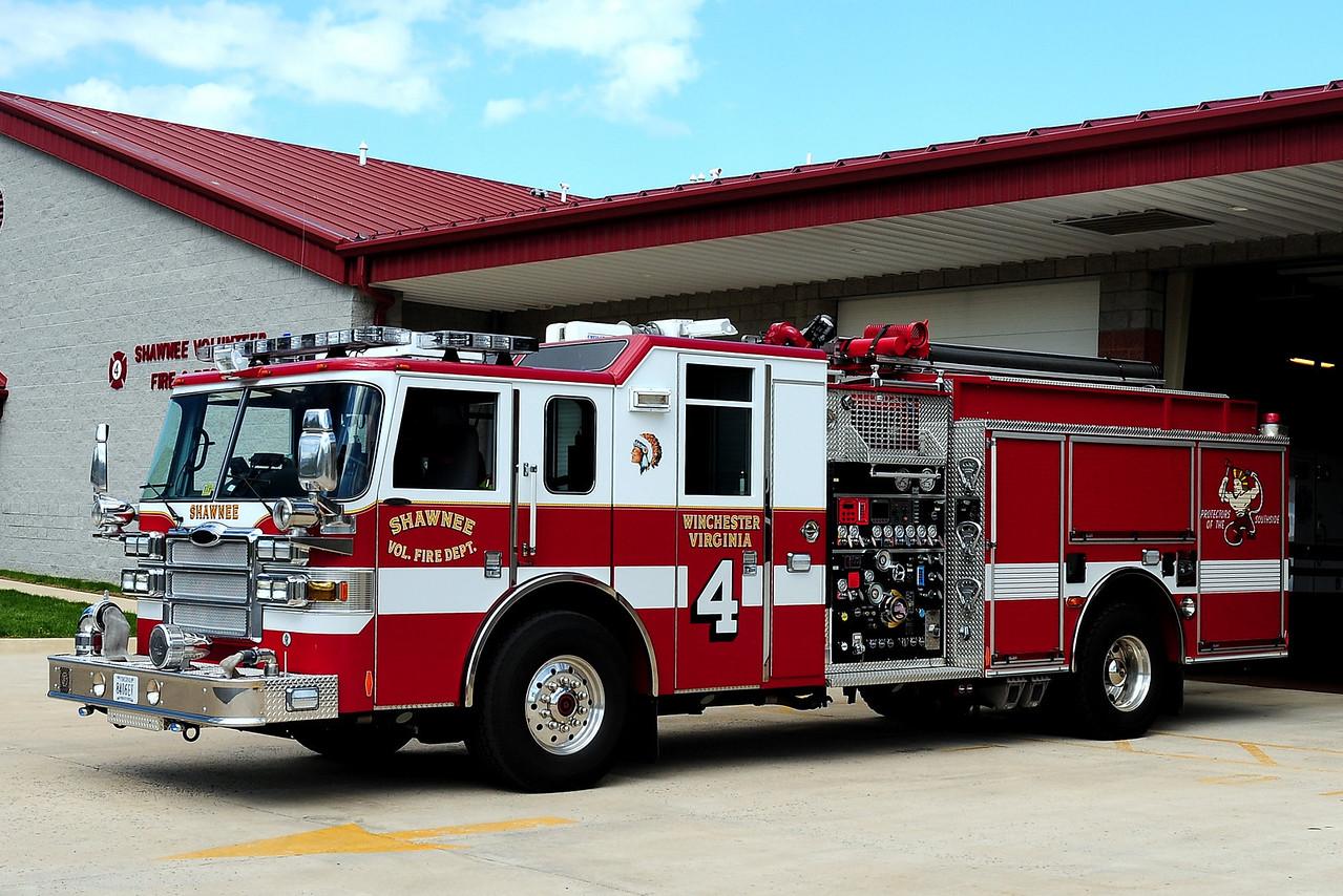 WINCHESTER, VA (SHAWNEE FD) ENGINE 4  2006 PIERCE LANCE 1500/  500/ 40A