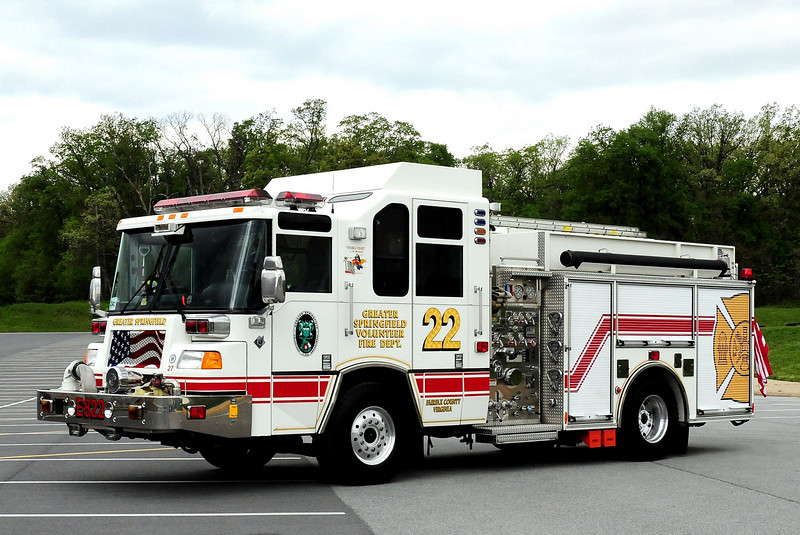 GREATER SPRINGFIELD, VA  ENGINE 422  1999 PIERCE QUANTUM