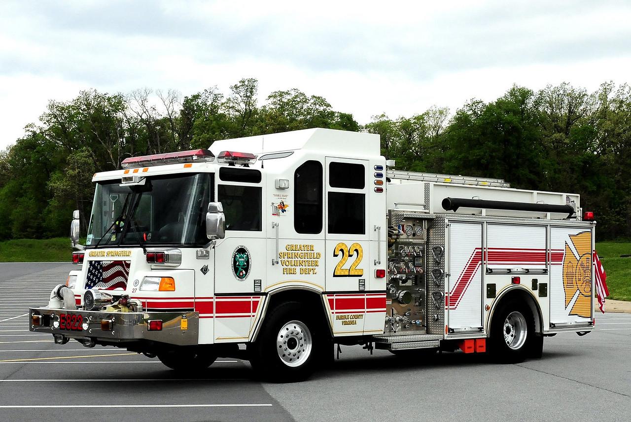 GREATER SPRINGFIELD, VA  ENGINE 422  1999 PIERCE QUANTUM
