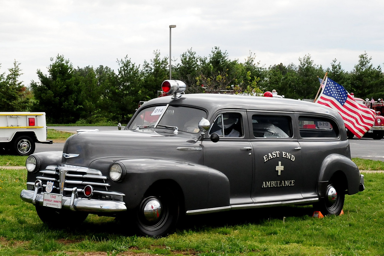 EAST END ENGINE  CO   1948 CHEVY BARNETTE  AMBULANCE  THIS IS  THE LAST ONE  OF  ONLY 17 EVER MADE
