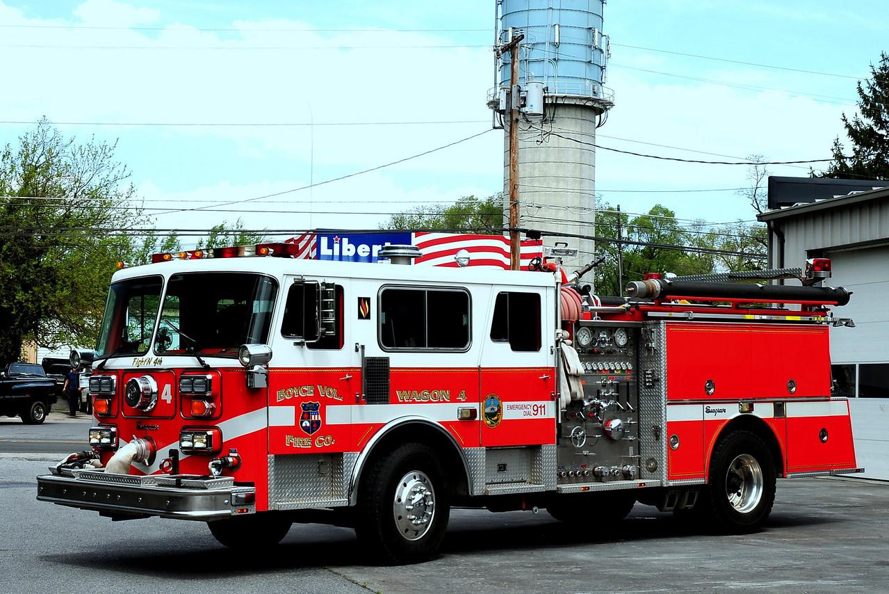 BOYCE, VA WAGON 4  1987 SEAGRAVE 1500/ 500 EX-WINCHESTER, VA (FRIENDSHIP FIRE CO)