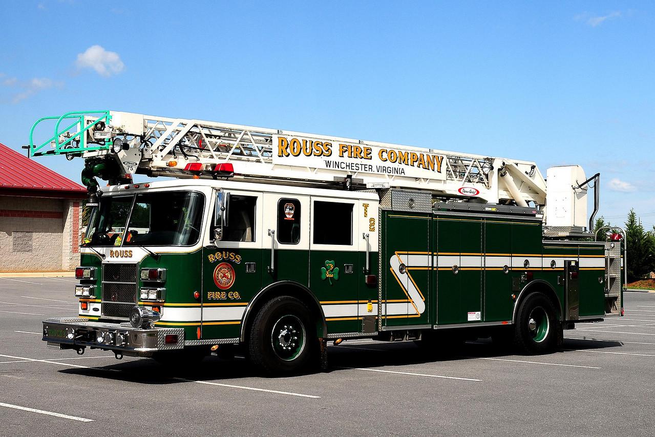 WINCHESTER, VA  TRUCK 2  (ROUSS FIRE CO.)  1998 PIERCE DASH 75 FT