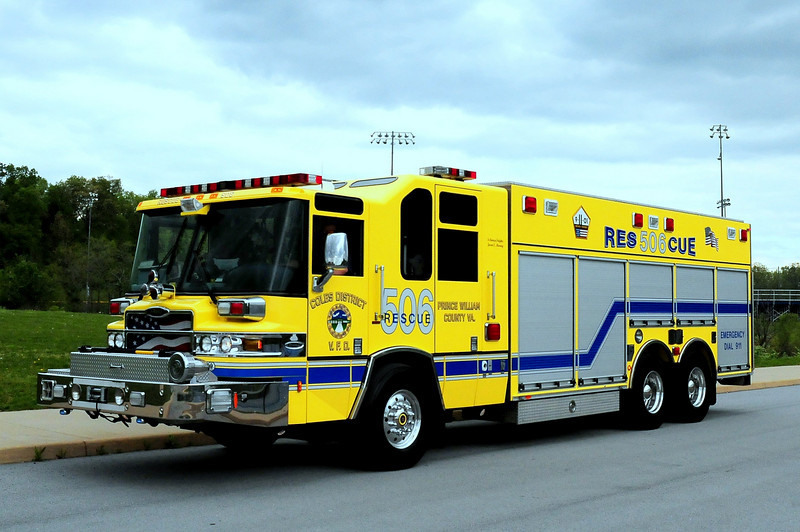 COLES, VA - RESCUE 506  2006 PIERCE QUANTUM HEAVY RESCUE