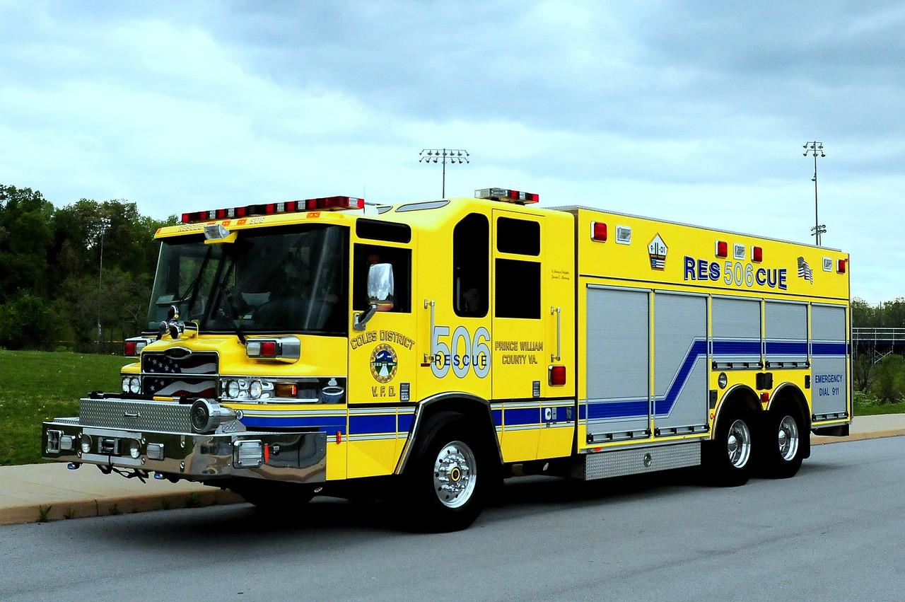 COLES, VA - RESCUE 506  2006 PIERCE QUANTUM HEAVY RESCUE
