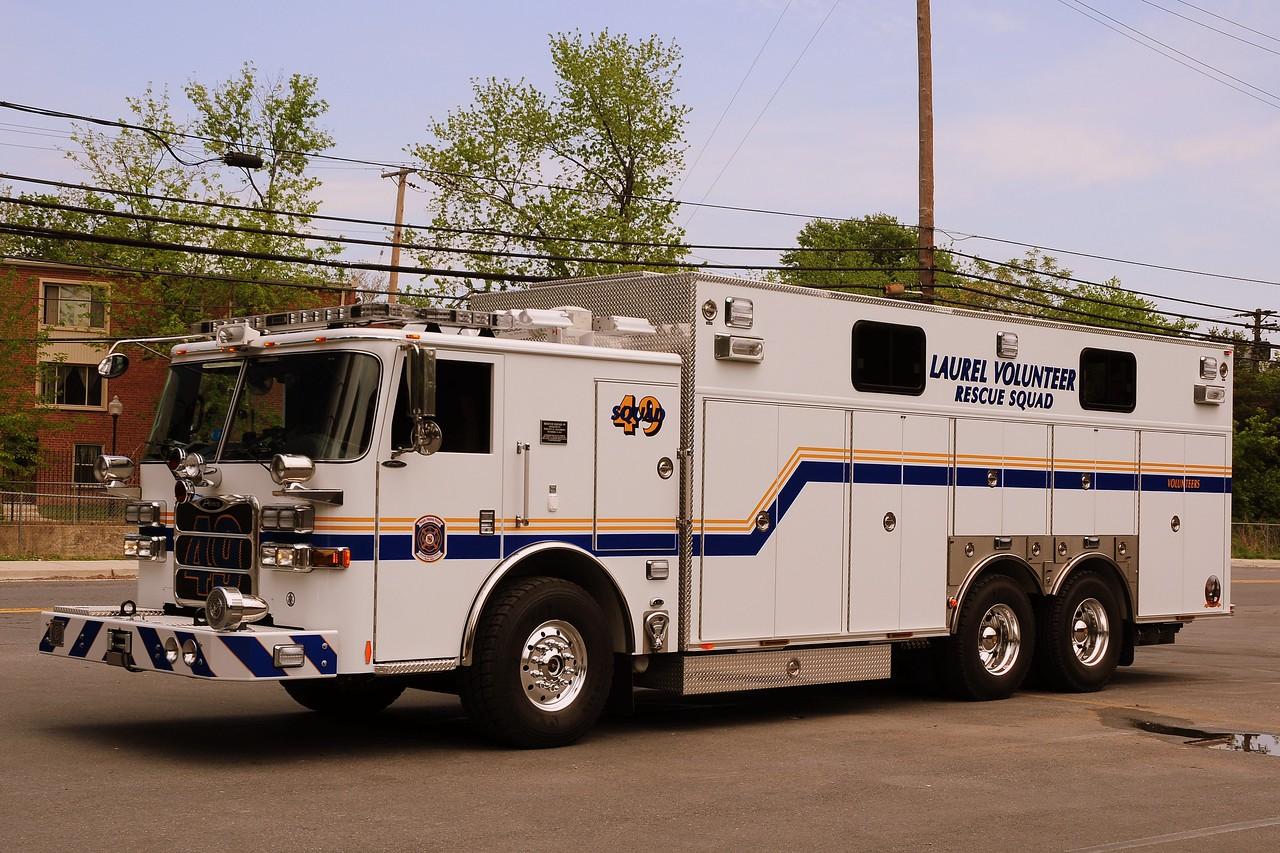 Laurel, MD  Rescue Squad  49  2011 Pierce Arrow XT