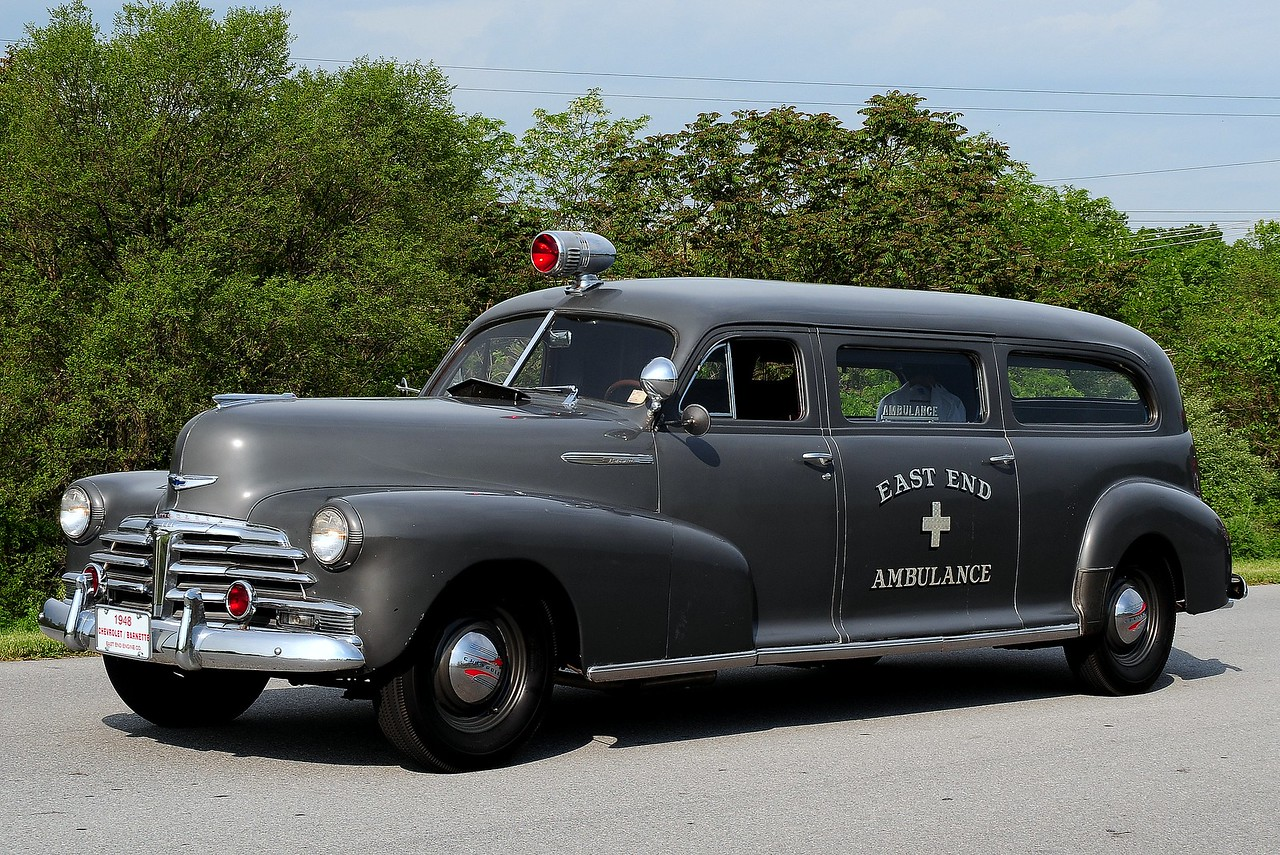 East End  Fire  Co    Ambulance  1948 CHEVY BARNETTE AMBULANCE THIS IS THE LAST ONE OF ONLY 17 EVER MADE