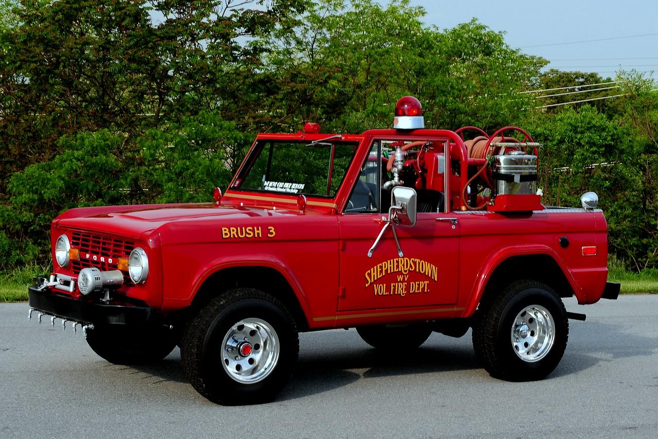 Shepherdstown , WV   Vol Fire  Dept   Brush  3  1972  Ford Bronco  100/100