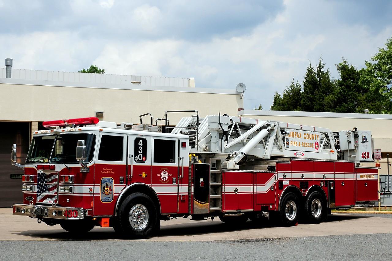 Fairfax County  Merifield   Tower  430  2004 Pierce Dash  95ft