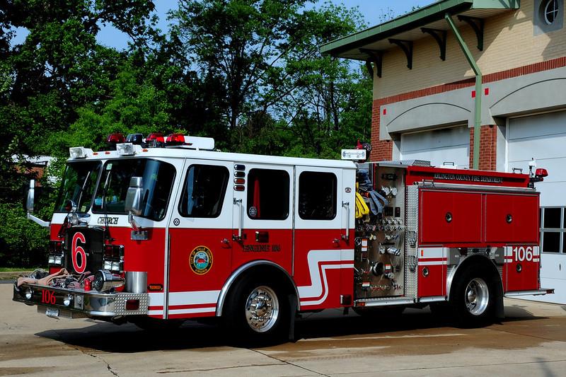 Falls Church, Va   Engine  106  2008  Emergency- One 1250/ 750/ 60 foam
