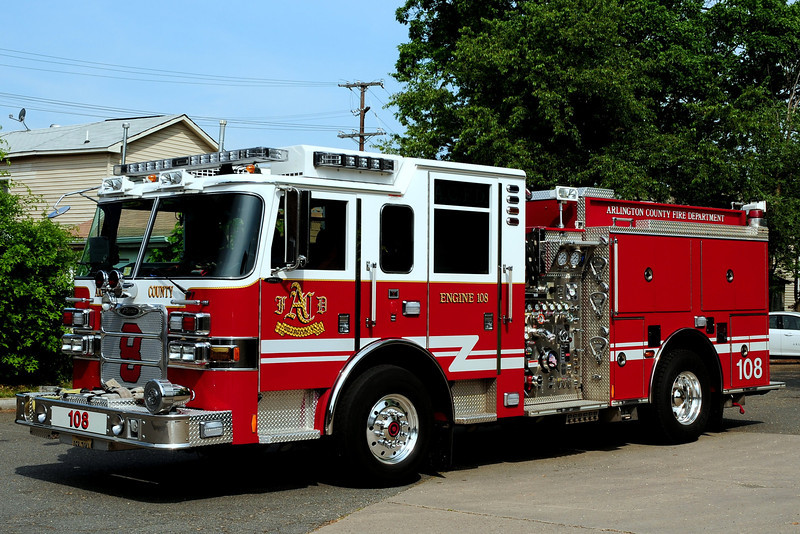 Arlington County   Engine  108  2009  Pierce Arrow XT  1500/ 750/ 30 Foam