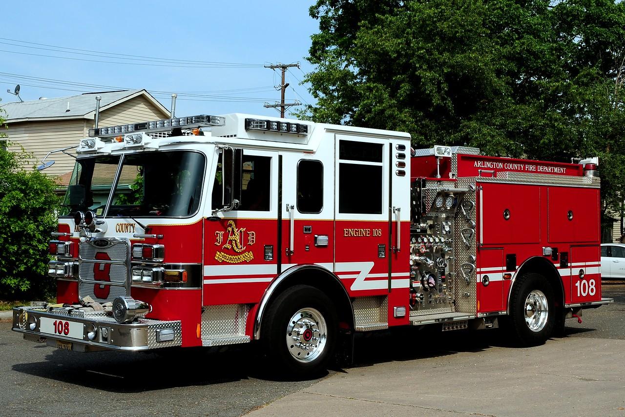 Arlington County   Engine  108  2009  Pierce Arrow XT  1500/ 750/ 30 Foam