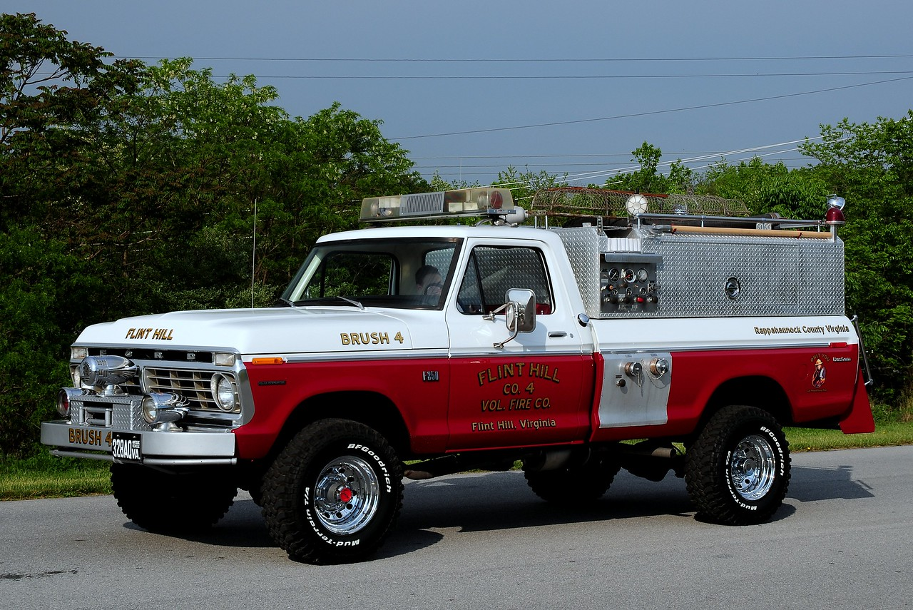 Flint Hill  Fire Co  4   Bursh  4 - 1974 FORD F-250   Now  Privatly  Owned