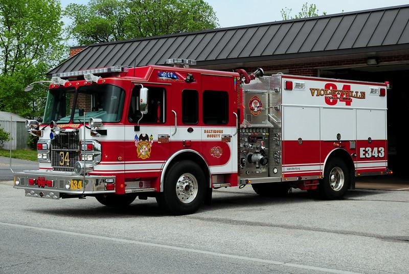 Violetville, MD  Engine  343  2010  Spartan/ Rosenbauer   1500/ 750