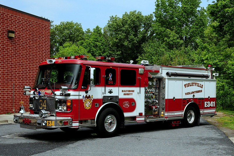 Violetville, MD   Engine  341  2001  American La France  1500/ 750/ 50  foam