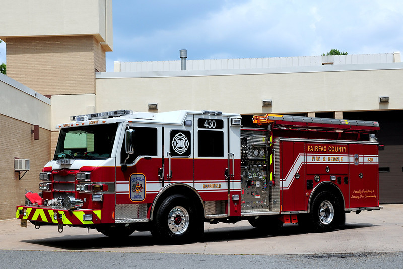 Fairfax County  Va    Merrifield      Engine 430  2011  Pierce  Velocity  1500/ 750/ 40 foam