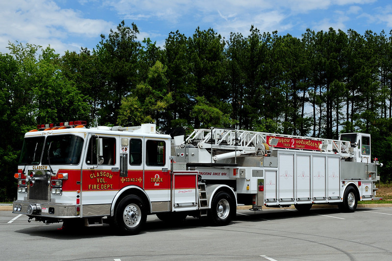 Glasgow  Fire Dept  Truck 2  1995 Spartan/ Duplex / LTI  100ft   Ex- Fredrick, MD