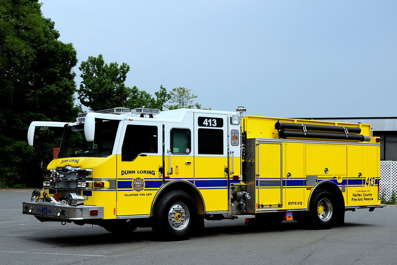 Fairfax County   Dun Loring    Engine  413  2009  Pierce  Velocity PUC 1500/ 750/ 40 Foam