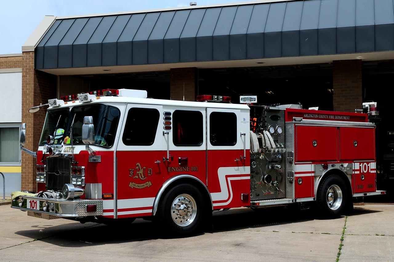 Arlington County   Engine  101  2006  Emergency-One  1250/ 750/ 30 Foam