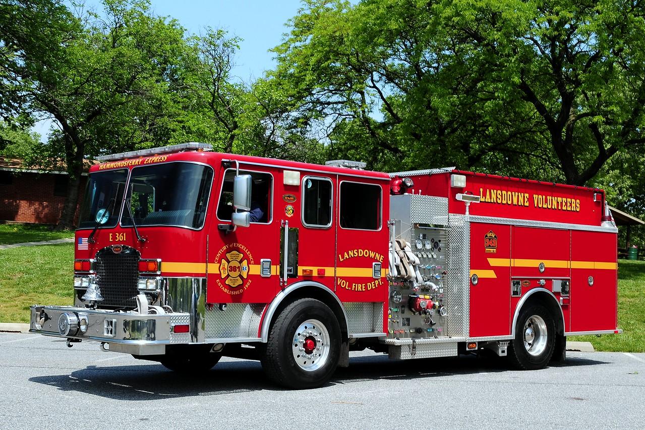 Landsdowne, MD    Engine  361   2006  KME  1500/ 1000