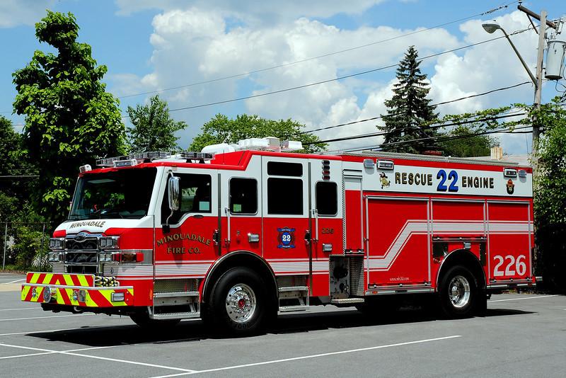 Minquadale Fire Co Rescue 226 2012 Pierce Velocity 1500/ 500