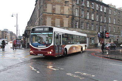 124 swings out of East Fountainbridge towards Tollcross
