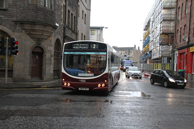 103 is Gyle Centre bound having detoured via Ponton Street