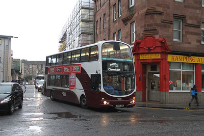 762 looks strange on a 1 but might be a booked decker turn as I photted a Trident on a similarly timed block the day before.   Ponton Street on diversion.   Not ideal but poor light and random cyclists messed up the stationary snaps.