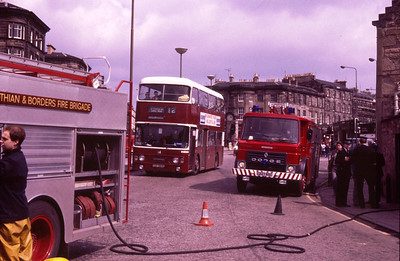 C227RSC and another pump frame Lothian 564 at Haymarket as the brigade deal with a minor fire at Ryries