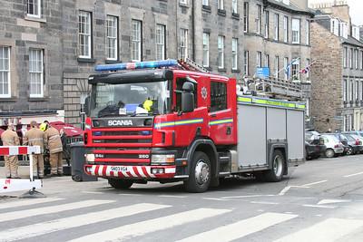 SN03 XGA Scania 94D Castle Street waste bin fire