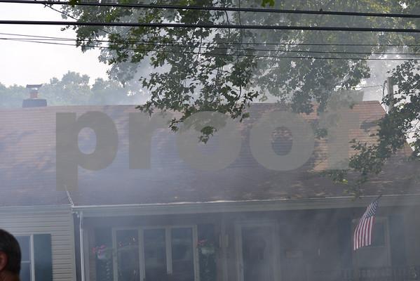 Massapequa FD Shed Fire 112 Cleveland Ave, 7-4-11