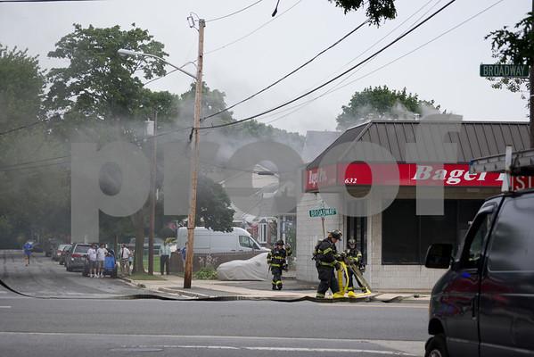 Massapequa F.D Signal 10 Buidling Fire 632 Broadway 7-15-12