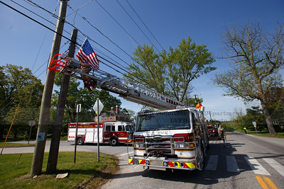 Lebanon Volunteer Fire Dpearment Memorial Day 2020 Town Green Flag Detail