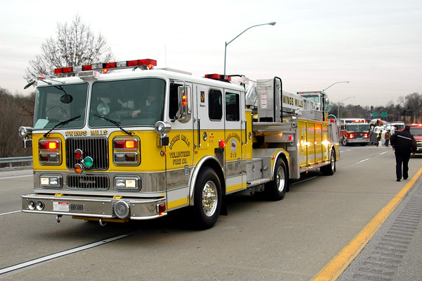 12-15-2005 MVA w/ Overturned Tractor Trailer - Owings Mills Md.