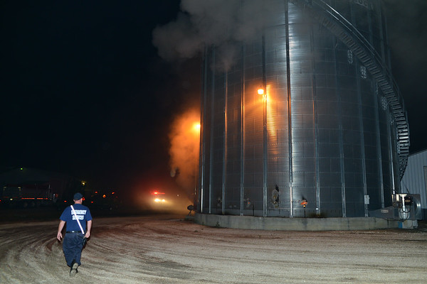 9-24-2016 Grain Bin Fire - Eldorado Md.