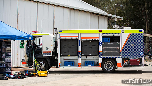 NSW Police Rescue NSW Police Rescue truck on display at Police Air Wing Open Day, November 2012