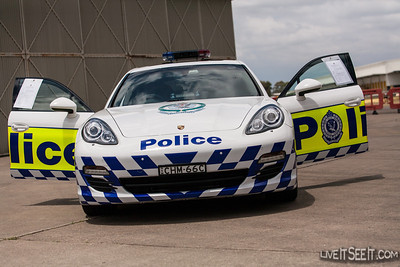 NSW Police Porsche PR Car Porsche PR car with NSW Police at the Air Wing Open Day, November 2012
