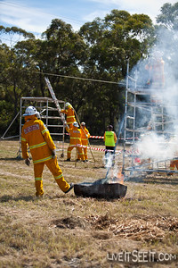 Mittagong Brigade competing in the Ladder Event.