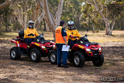 These Quad bikes were a couple of the many support vehicles being used by event organisers.