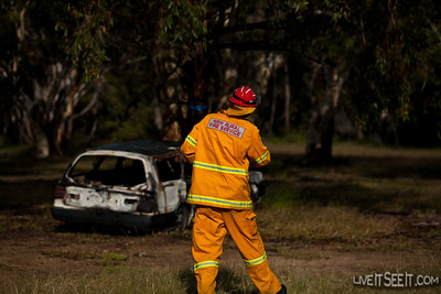 Castlereagh's Crew Leader assessing the situation in the MVA event.