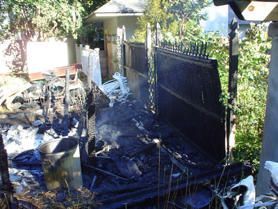 Shed Fire