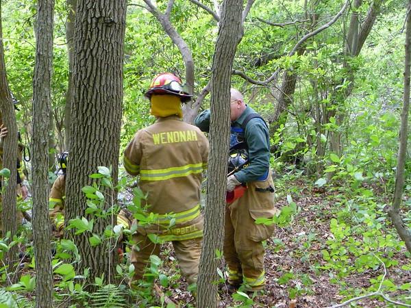 Brush Fire - Wenonah Lake 5/9/2010