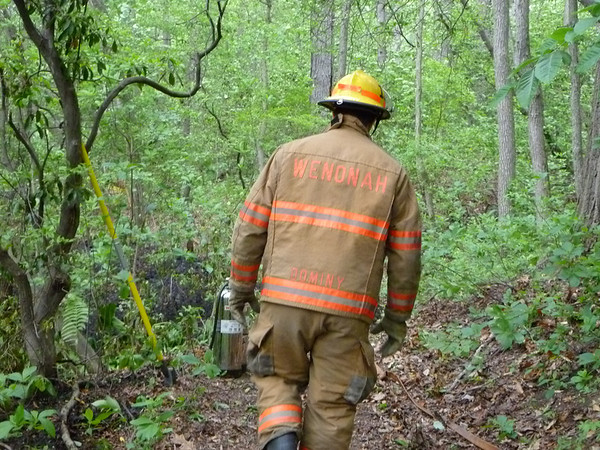 Brush Fire - Wenonah Lake 5/9/2010