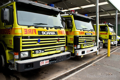 ACTFB Scania Pumpers Bravo 12, 14, 15