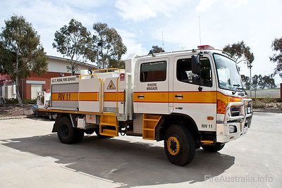 Tanker from Rivers Brigade in the ACT Rural Fire Service