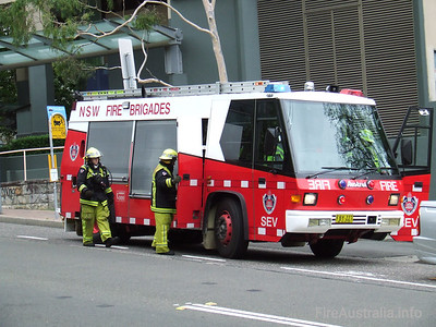 NSWFB SEV (Spare) Pumper NSWFB SEV (Spare) Pumper, an Austral Firepac FBY227.  Photo January 2007
