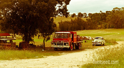 March 6. Which Year? Taken back in time with these slightly aged beauties. The Ford Truck appears to be an old Bush Fire Brigade Tanker